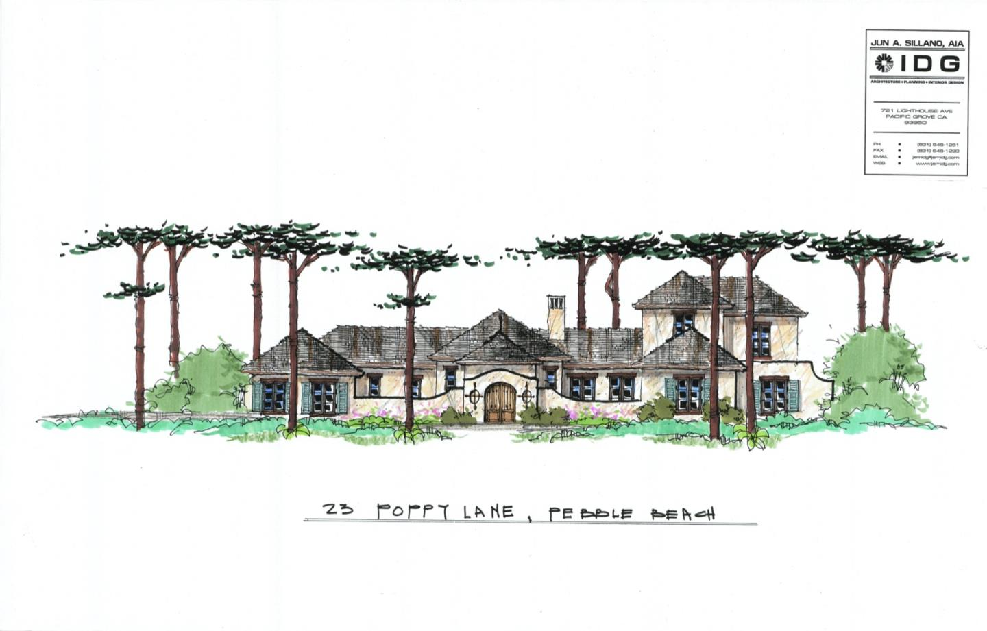 Detail Gallery Image 1 of 4 For 23 Poppy Ln, Pebble Beach,  CA 93953 - 5 Beds | 5/1 Baths