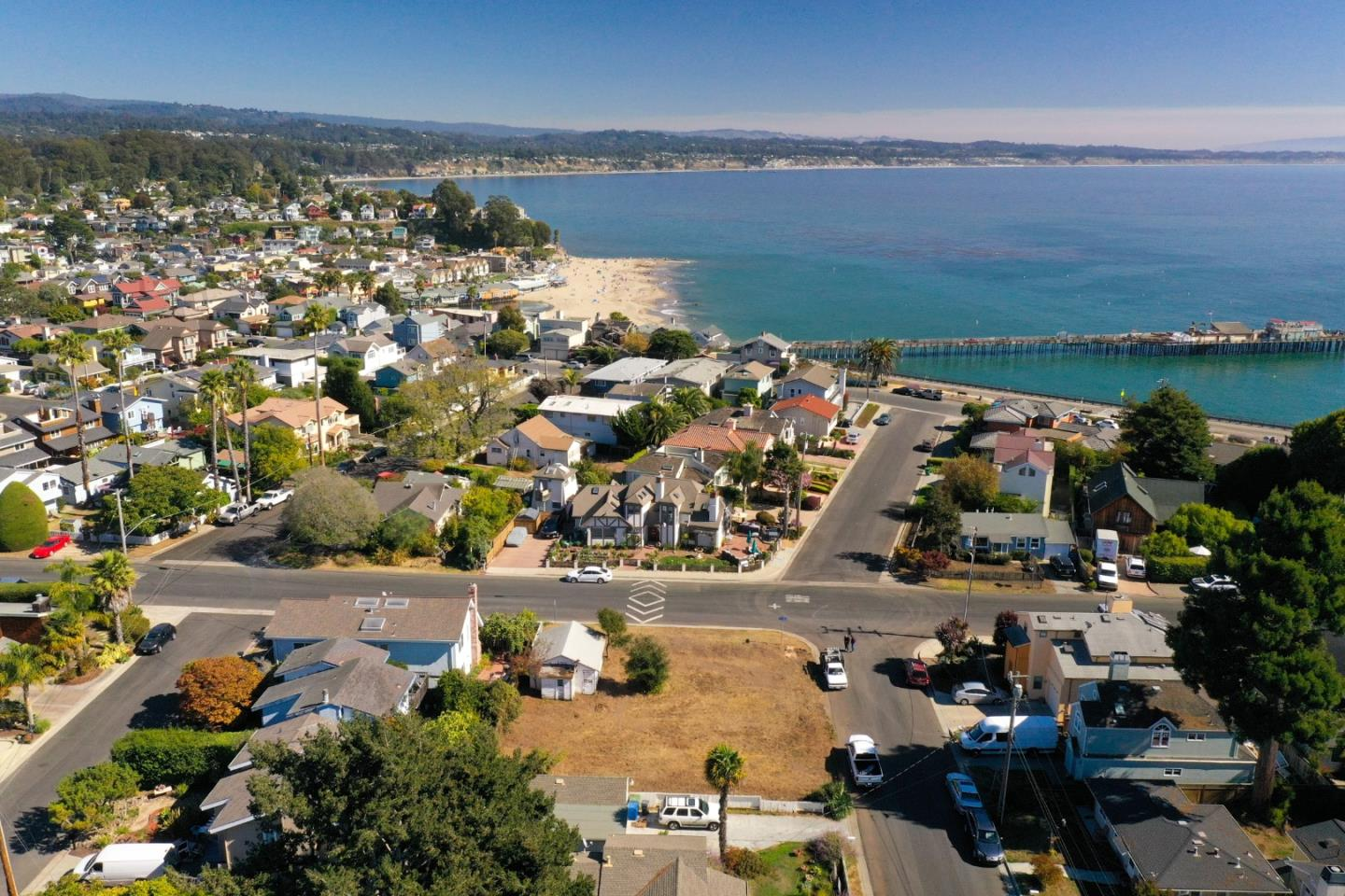 Rare ocean view lot in Capitola! Come build your dream home on this corner lot located in the Capitola Jewel Box. City of Capitola says you can build up to approx. 1940 Sq Ft.. Water, power and sewer are onsite. Walk to surf, beach and Capitola village in minutes.  Lot next door at 0 Opal Street ML81817156 is also available for sale.