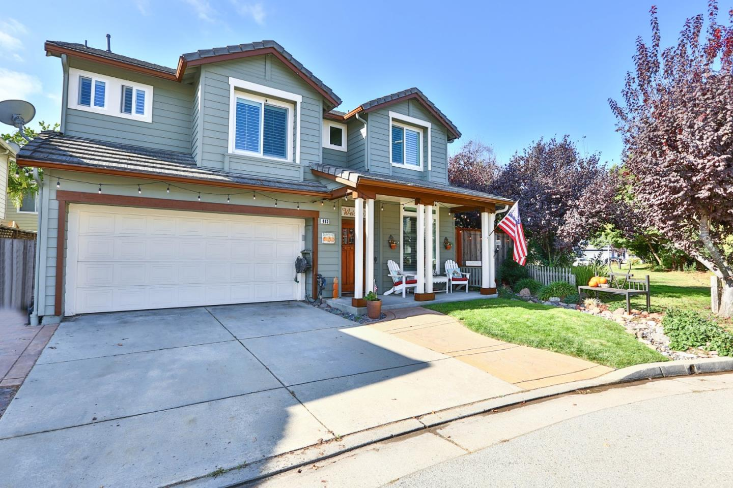 This is the Skypark home you've been waiting for! Corner lot with a large landscaped yard and tastefully remodeled throughout. Highlighted by Sunpower solar, water softening and purification systems, new Milgard windows, built in bar with wine cooler, gas insert fireplace, Nest thermostat, and Ring doorbell. The distinguished backyard is private, low maintenance, and adjacent to the greenbelt. There are numerous family friendly amenities in Skypark which boasts basketball & tennis courts, soccer fields, playgrounds, bocce ball courts, a dog park and skate park. Walking distance to the newly renovated middle school, library, and movie theatre. Great commuter location with easy access to HWY17, 30min to the Silicon Valley and 10min to Santa Cruz beaches.
