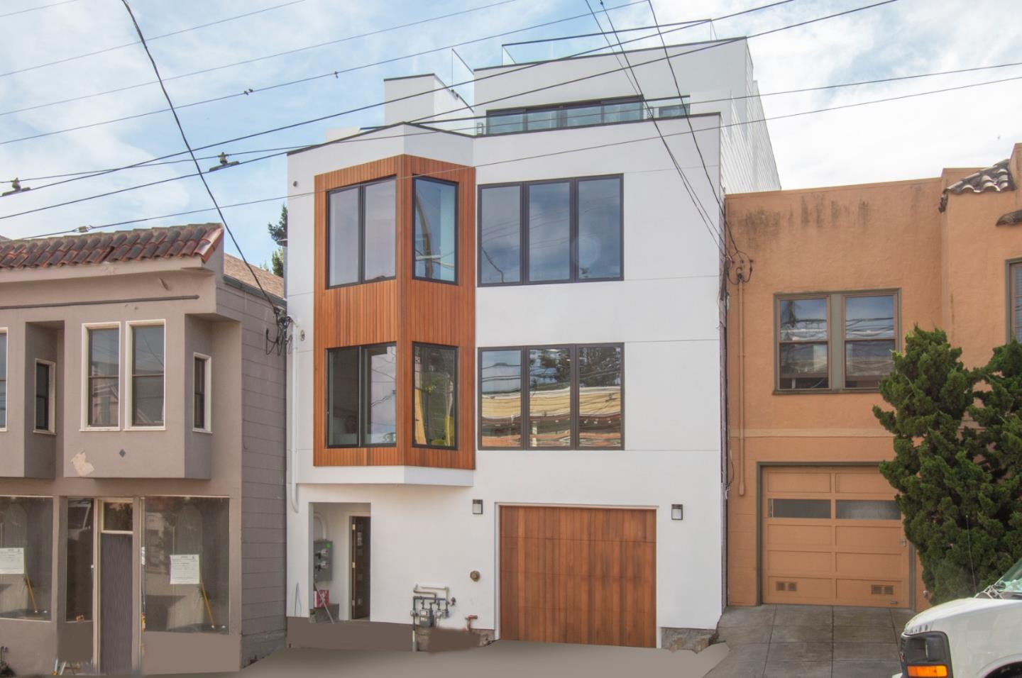 BRAND NEW construction! PRIME NOE VALLEY location, close to all amenities! Contemporary 4 level building, 2 floors each unit. Perfect for Owner-Occupiers, TIC Partners, or Investors. Legally 2 units but lives beautifully as a single family home. Very bright, large bedrooms, large bathrooms, 2 car garage, everything new, recess lighting and engineered hardwood floors throughout entire building. All new Thermador appliances! Split A/C+Heat = energy efficient, every room has it's own A/C+ Heat control. Glass railings throughout interior and exterior. Sit outs at 4 levels! 489 30th St, Lower Unit (Floors 1&2): 3BR/2BA + Office, 2070 sqft, chef's kitchen, master suite with large patio. Gorgeous great room! Deck overlooking back patio below. 489A 30th St, Upper unit (Floors 3&4): 3BD/3BA, 2060 sqft, large gorgeous great room going out to tiled balcony with glass railings, chef's kitchen, master suite with views and balcony, luxury ONE OF A KIND roof terrace, AMAZING PANORAMIC VIEWS!