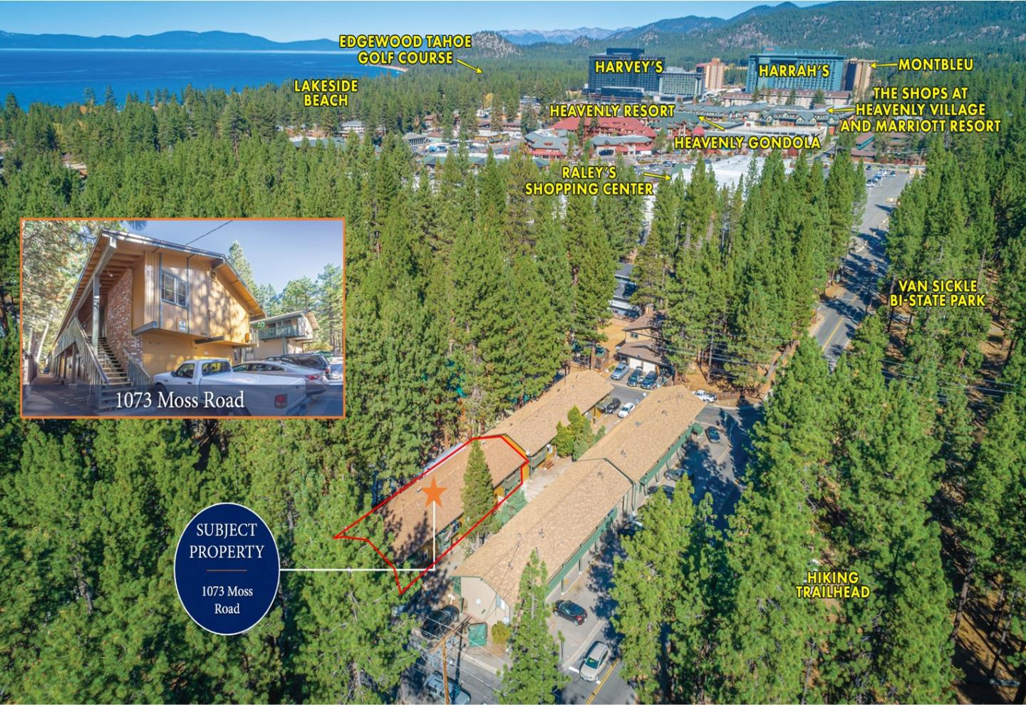 Detail Gallery Image 1 of 13 For 1073 Moss Rd, South Lake Tahoe,  CA 96150 - – Beds   – Baths
