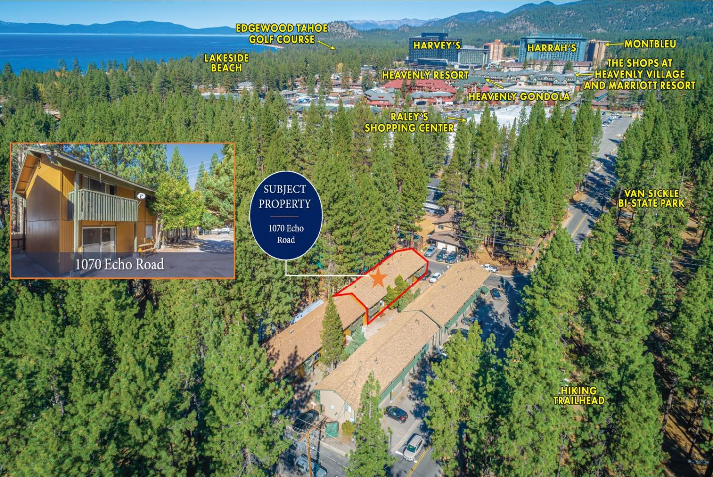 Detail Gallery Image 1 of 11 For 1070 Echo Rd, South Lake Tahoe,  CA 96150 - – Beds   – Baths