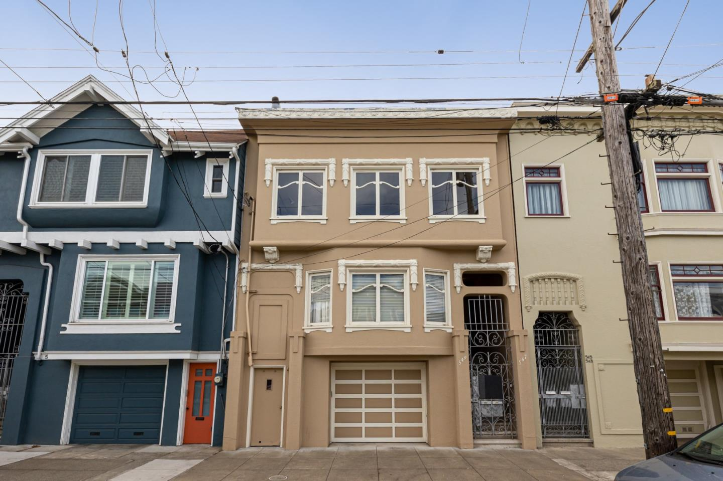 Located in Central Richmond, 547 19th AVE is a must see.  This spacious top floor condo in a two-unit Edwardian duplex is conveniently located just two blocks away from both Golden Gate Park and all the restaurants & conveniences of Geary St.  The flat has been remodeled and freshly painted.  It includes a chefs kitchen outfitted with stone counters, gas cooktop, pantry and plenty of cabinet space.  Enjoy two large bedrooms and a bonus sunroom that overlooks a shared manicured garden with ample space for outdoor activities.  With a sizeable formal dining room as well, the home offers an abundance of options to comfortably work from home.  Hardwood floors cover the entire home, providing for a clean, cozy San Francisco feel.  The ground level includes an attached 1-car garage for parking and multiple deeded storage areas.