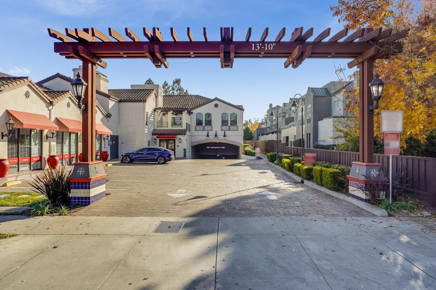 Great opportunity to own this bright and beautifully designed top floor unit condo located in the Heart of Cupertino. This home is conveniently located near the great Cupertino schools, library, Apple, City Hall, restaurants, shopping and entertainment. The END unit has 3 bedrooms, 2 bathrooms with high ceilings and a walk-in closet in the Master.  The unit also includes stainless steel appliances in the kitchen, double pane windows, washer/dryer in unit, recessed lightings, a spacious living/dining room combo, large balcony and 2 car underground parking. The complex is in a secured building with fitness room.