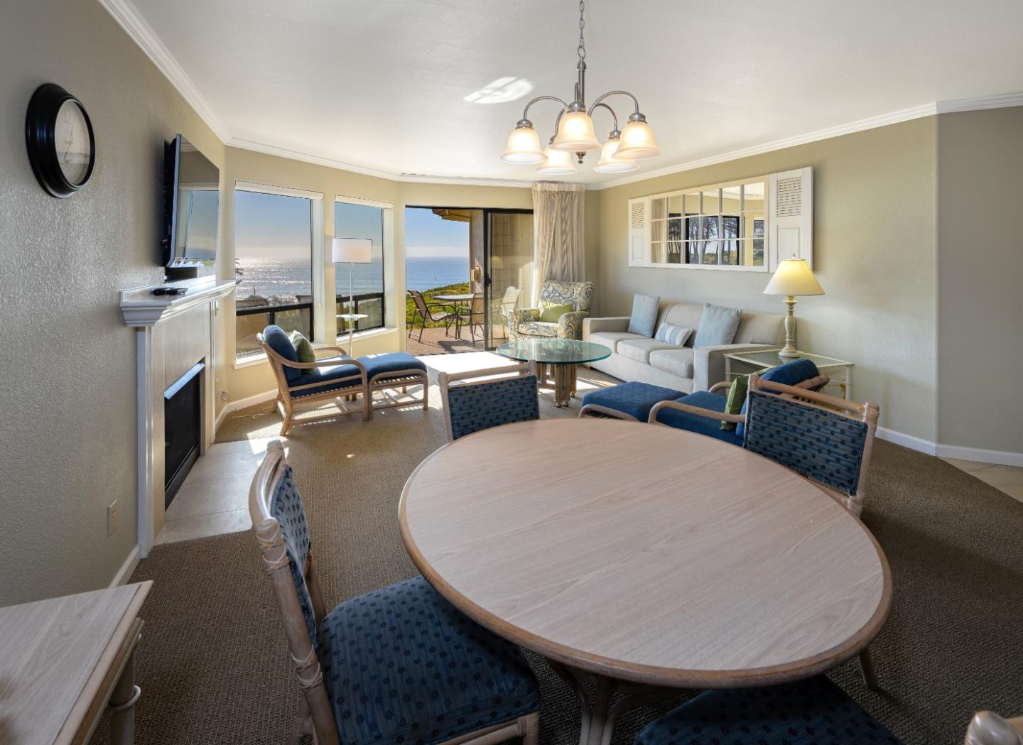 Beautifully remodeled, ground floor two bedroom two bath fully furnished ocean view condominium at the Seascape resort in Aptos. Enjoy the three pools and spas, golf and tennis nearby and miles of white sandy beach.