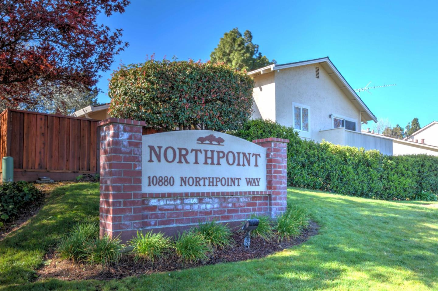 Spacious Beautifully Remodeled Cupertino Townhome in highly desired North Point Community. NORTHEAST Facing. Good location in the complex! Exceptional split level open floor plan.  Skylight in spacious living room, abundant natural light vaulted ceilings. New recessed lighting throughout, laminate flooring, double paned doors and window. Nice kitchen, polished cabinets, granite counters, New stainless appliances Refrigerator, Oven-Stove, Microwave, Dishwasher abundant storage. Master suite with private balcony and new Double paned door, closet organizer. New Vanities, mirrors, lights, sinks, toilets, all bathroom fixtures. Cupertino schools- L,P Collins Elementary, Lawson Middle, Fremont High. Walking distance to both Apple Park and Apple Infinite Loop campuses. Easy access to freeways- 280, 85 to 101, minutes to Google and Facebook. Great amenities and walking distance to Safeway and shopping.
