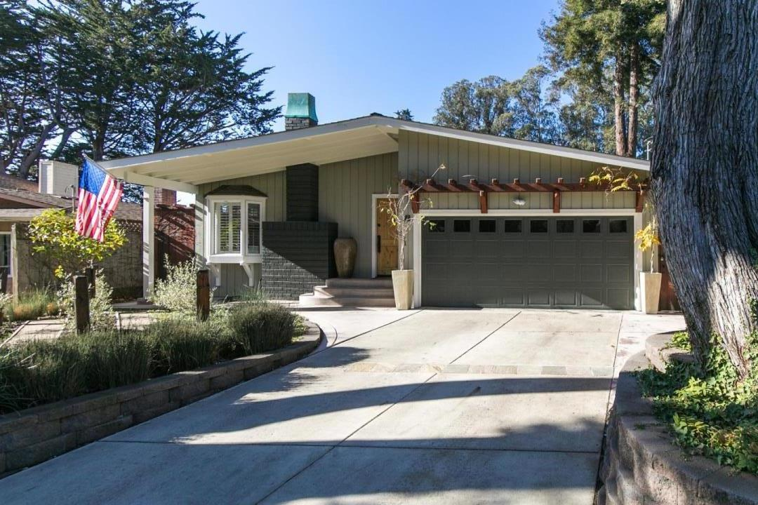 Stunning Aptos Home on quiet tree lined street close to beaches, golf course and fine local restaurants. This property is beautifully remodeled inside and out with new doors, paint, shutters on dual pane windows, farmhouse sink, furnace and ducting, water heater and all hardwood flooring. The low maintenance yard is all on automatic sprinklers with artificial grass in the backyard. The interior is full of light from the skylights and the many windows and has shiplap on the walls and wainscoting in the bedrooms. All this property needs is you to make it a Home.