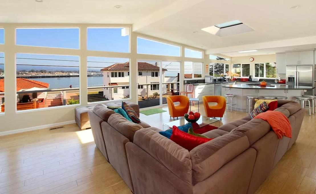 WOW! A coastal lovers dream... this mid-century modern style home is truly one of a kind, situated on one of the most desired streets in all of Santa Cruz. Upper level great room features 180 degree views of the ocean, wharf, beach, and boardwalk. Open floor plan w/ expansive upper level deck, truly an entertainers delight. Completely remodeled kitchen and bathrooms w/ high end finishes throughout. Owners suite features an oversized shower, walk in closet, and the luxury of enjoying the sunrise over the ocean upon waking up. Lower level flex space perfect for a game room, secondary family room, gym, or home office. Courtyard area is an ideal setting for a fire pit, as well as an ample sized backyard w/ hottub. Experience all the luxuries of living on W Cliff Drive without the nuances. Easy access to Approx 20 of the most desired surf locations in North America. Easy stroll to the beach, the wharf, and the boardwalk. Close to Hwy 17 and Hwy 1, convenient for commuters.ONE OF A KIND!