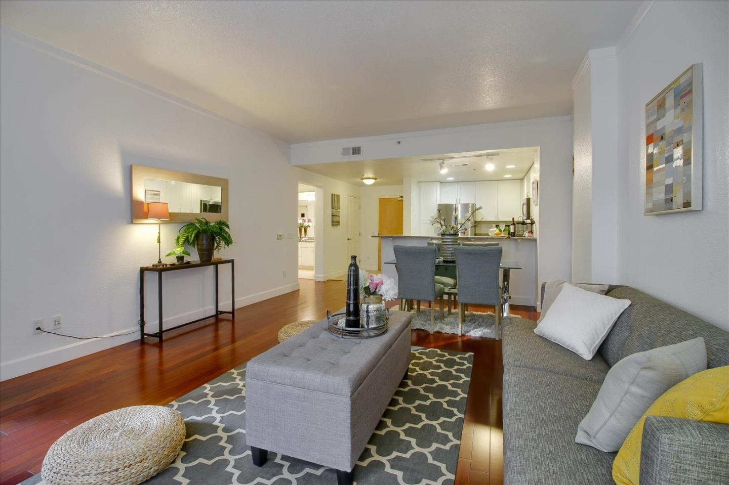 Top Cupertino Schools!!Luxury Montebello High-Rise@corner of Stevens Creek/De Anza.1BR/1BA+Balcony.LargeDR/LR Combo.Master w/walk-in Closet.Specious kitchen w Granite Counter tops and breakfast Bar.Inside Laundry,Central A/C,Secured underground parking w elevator.Minutes to Marina,Library,Parks,Restaurants,Shopping,Fwy 280/85.Close to Apple and jobs.Staged & Shows Great! Bonus feature:  Deeded storage room (very few units has this).
