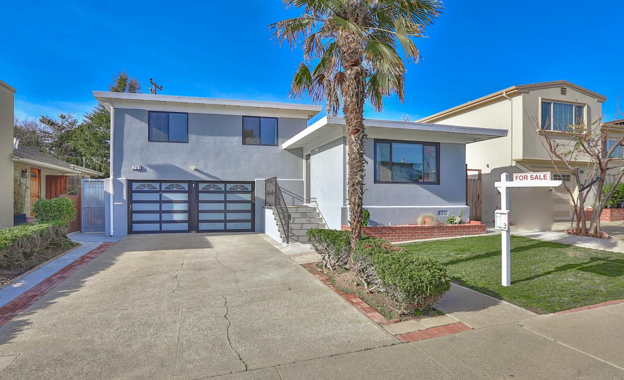 Exquisite remodeled 3BR/3BA home PLUS a in-law unit in the desirable Sunshine Gardens neighborhood. The main section is featured with an open floor plan concept, opened gourmet kitchen with center island, huge living room/family room combo. A den near the entrance creates a quiet and bright working environment for the WFH professional. Stairs create tri levels that separate the sleeping area and living area. A few stairs up, a living area is featured with 3 bedrooms and 2 bathrooms; A few stairs down, there is a one car parking garage where you can find laundry units, and a half bathroom for guests to use. Through kitchen access to the backyard, you can find a neatly designed backyard were divided into two courtyards by a fence. A perfect in-law unit can be found on the other side of the courtyard; it is separated from the main section of the house. This in-law unit featured a wet bar, full bath, laundry sets, parking garage & a portion of the yard. Close to airport & Costco