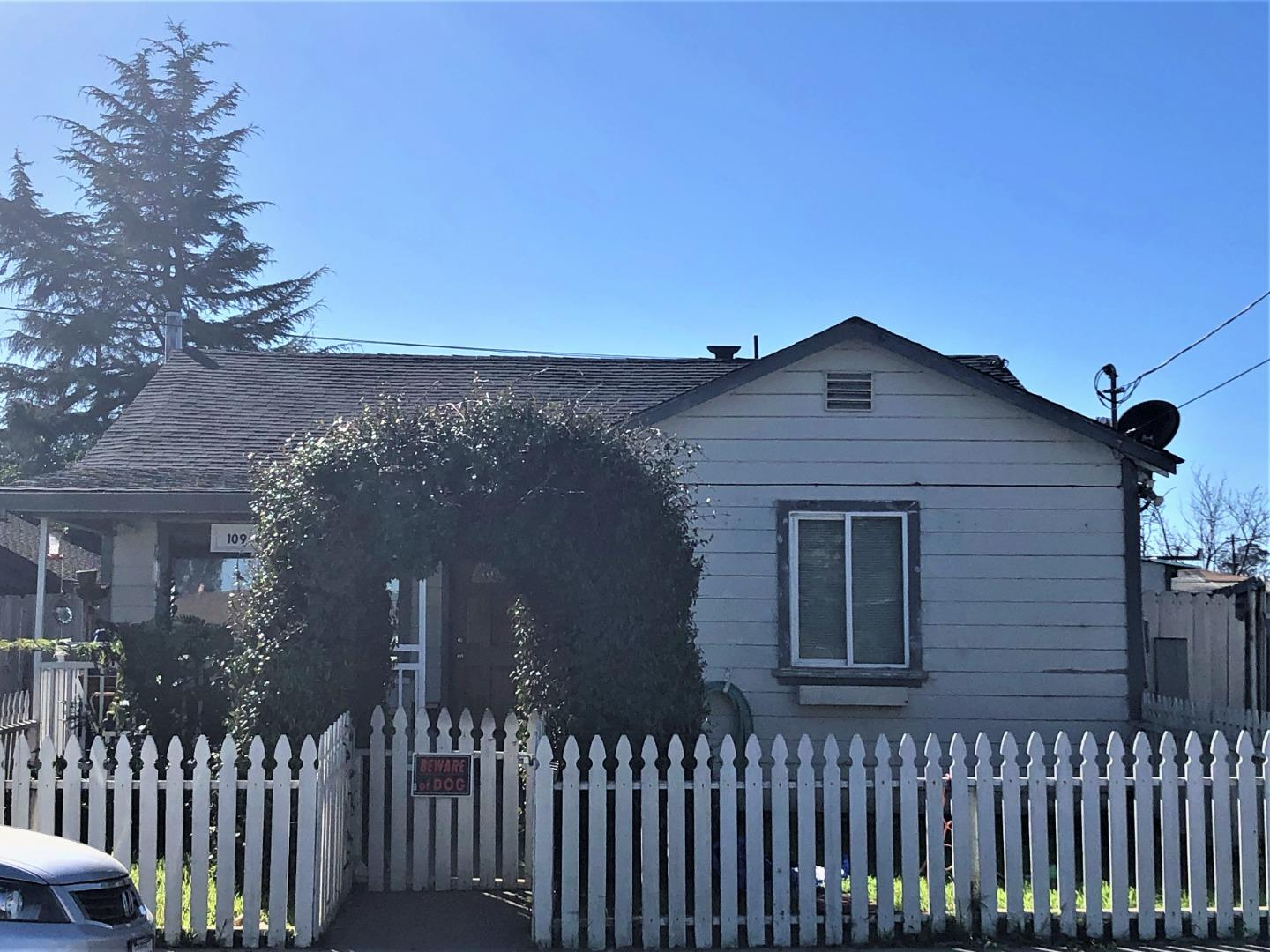 """Fantastic location on a quiet street in Freedom. With 1950's character, this 2 bedroom- with a bath in between- is ready for some TLC. Enter to a Dining/Living room combo. Kitchen has a nice view of the backyard. Open up the nook off the kitchen/bedroom to make a large pantry OR a master with walk-in closet OR a """"room to Zoom"""" office ORlaundry room. Front bedroom has a nice distant view of Mt. Madonna mountain range. Detached garage with attached workshop could be repaired or perhaps another unit (buyer investigations required for expansion). Contractors Special: Home needs upgrade/updates and will not likely qualify for an FHA/VA loan. If you love the location, this is a sweet spot on a larger than average lot (7000+sqft). Centralized location near breweries, restaurants, shopping and easy commute location. I love this street and I bet you will too!"""