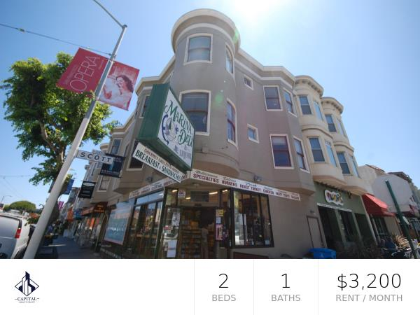 Detail Gallery Image 1 of 1 For 2295 Chestnut St #4,  San Francisco,  CA 94123 - 2 Beds | 1 Baths