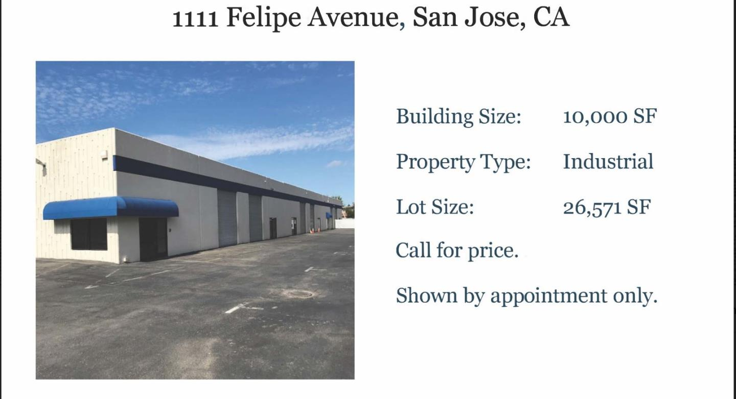 Detail Gallery Image 1 of 1 For 1111 Felipe Ave, San Jose,  CA 95122 - – Beds | – Baths