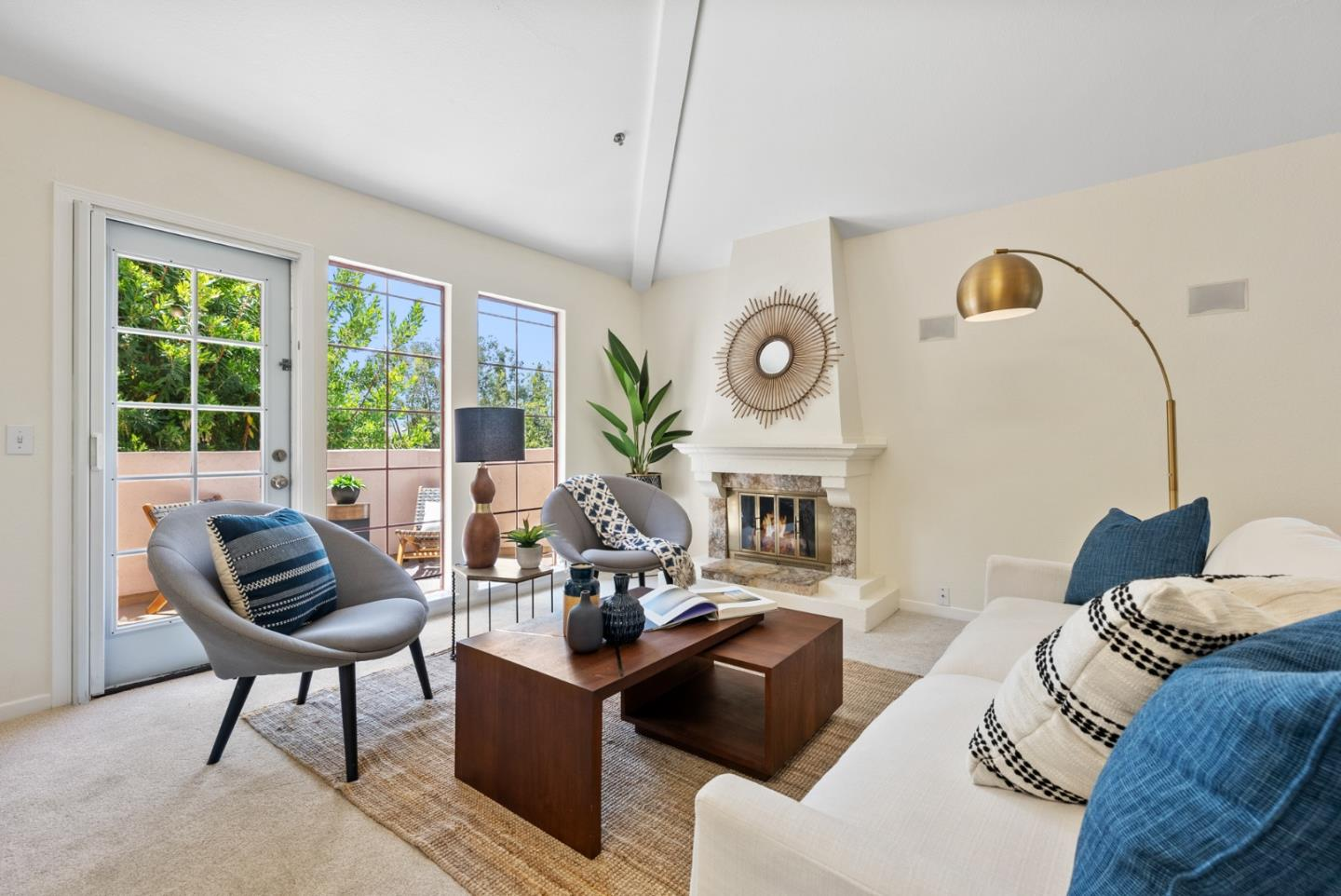Beautifully remodeled end unit in the best location in the Cupertino Waterfall Community. This 2B/2B 1154 sf north east facing residence offers conveniences of modern living. Spacious great rm w/ cathedral ceilings, fireplace & new patio door to balcony. Stunning remodeled kitchen w/ granite countertops, tile backsplash, custom cabinets & new s/s appliances. Master suite w/ spacious walk-in closet, custom cabinetry & remodeled bath w/ shower. 2nd bedroom w/ 2 closets & 2nd bath access. Other amenities: fresh paint, designer carpet, shutters, custom cabinetry, In-house laundry & more. 2 car tandem garage w/ room for work/storage. Well-maintained community w/ water fountains, pool/spa. Prime Cupertino location; including shopping, dining & recreational facilities, such as Cup Library, Wilson Park, Flint Center & Community Center. Walking distance to schools & Apple buildings, minutes from Google, Facebook, Tesla w/ EZ access to 85/280. Top Cup schools: Eaton, Lawson, Cupertino High.