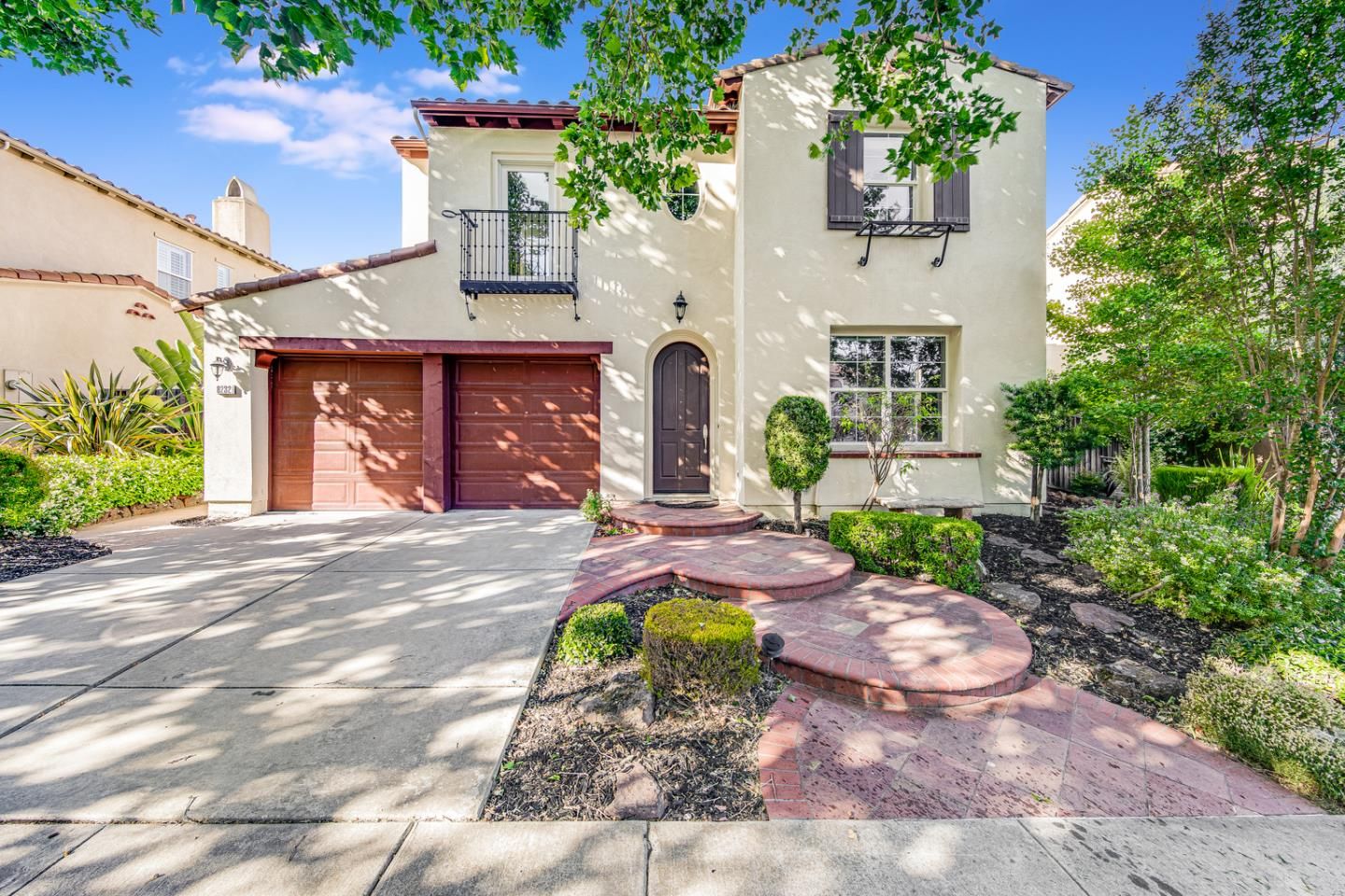 Welcome home to 8232 Saturn Park Drive, this beautiful property is situated in the desirable Gale Ranch community surrounded by some of the best amenities San Ramon has to offer. With award winning schools like Dougherty Valley High, fine dining at the Bridges golf course, and shopping at the Bishop Ranch. As you enter the home, the separate dining area is perfect for intimate dining. The kitchen has upgraded granite countertops, white cabinetry and stainless steel appliances. Large family room is naturally bright with multiple double pane windows and high weave thick carpets, perfect for entertaining guests. As you walk upstairs, the oversized primary bedroom overlooks the meticulously landscaped backyard--with fruit trees such as orange, lemon, and pomegranate. Large primary bathroom has plenty of storage and two walk-in closets. Other features include, indoor laundry room, full bathroom with double vanities and additional balcony area. Come see this amazing home today!