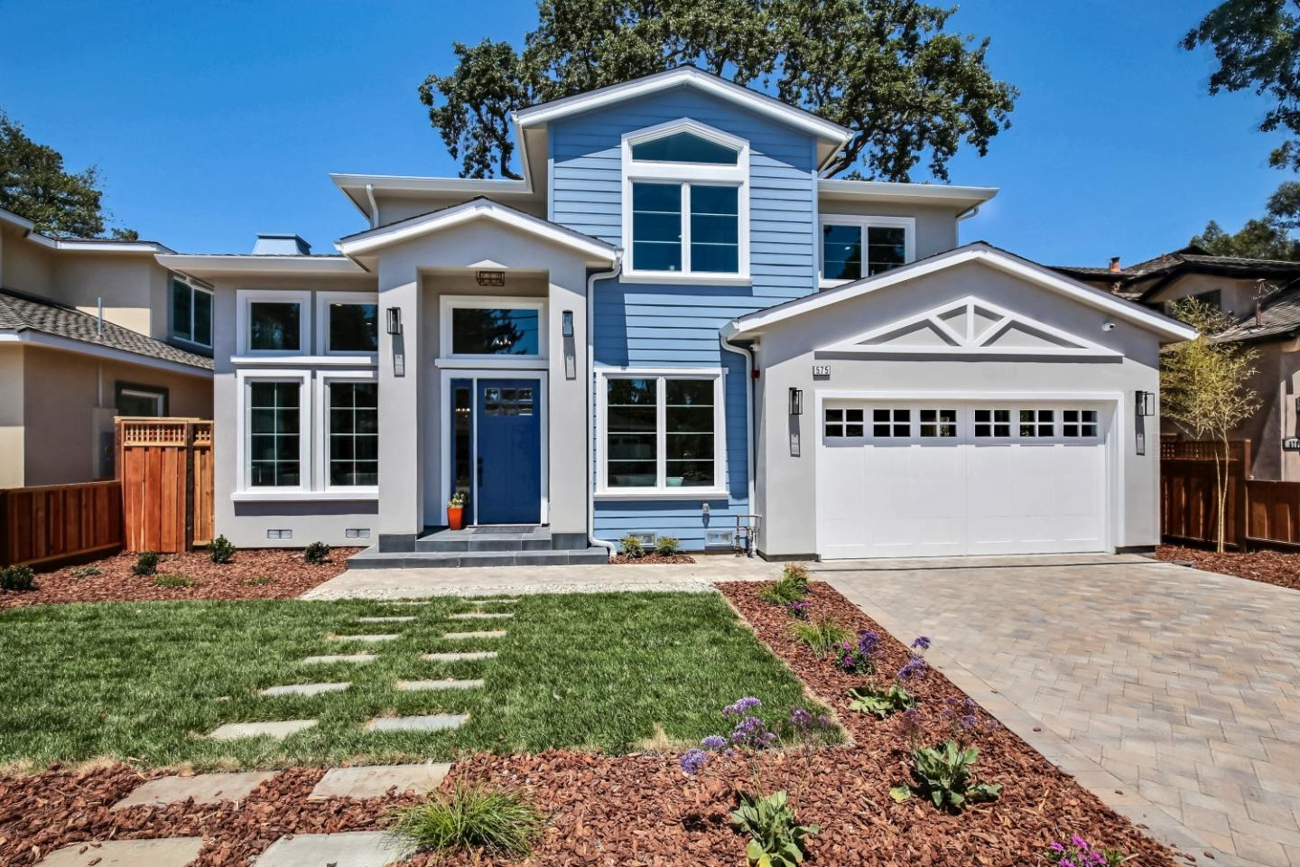 This stylish, new home is located in one of the most sought-after neighborhoods and adjacent to Atherton. The main level offers an expansive living room/dining room combination with soaring ceilings, loads of natural light, a sleek fireplace and custom built-ins; a gourmet chefs kitchen with a center island, all Thermador appliances, quartz countertops and a cozy breakfast seating area; a generous sized family room which includes large glass doors to the deck and backyard; a separate office; one en-suite bedroom, full size laundry and a lovely powder room. The second level has the private main en-suite bedroom with a luxurious bath including a free-standing tub and large shower, a walk-in closet and a slider to the balcony overlooking the backyard; two additional en-suite bedrooms complete this floor.  Enjoy the professionally landscaped yard with over 1,100 sf of Trex deck, new lawn and nice plantings. European oak floors throughout, air conditioning and a two-car attached garage.