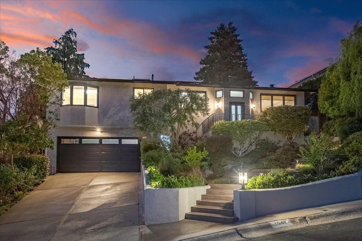 Stunning Contemporary updated Burlingame Hills home. Comprised of 5beds, 3baths, 3,016 living sqft, situated on an oversized lot. Beautiful bright & open floor plan! Chefs kitchen includes stainless steel appliances, custom cabinets, topped with granite countertops + breakfast bar. Spacious Family Room with high vaulted ceilings and adjacent Large Formal Living Room and Dining Room that opens to the beautifully laid out yard space, including built-in outdoor kitchen, pool, spa with waterfall, and lush lawn + views! Excellent close-in location, easy access to highway 280 & hiking trails. Top-rated Burlingame schools.