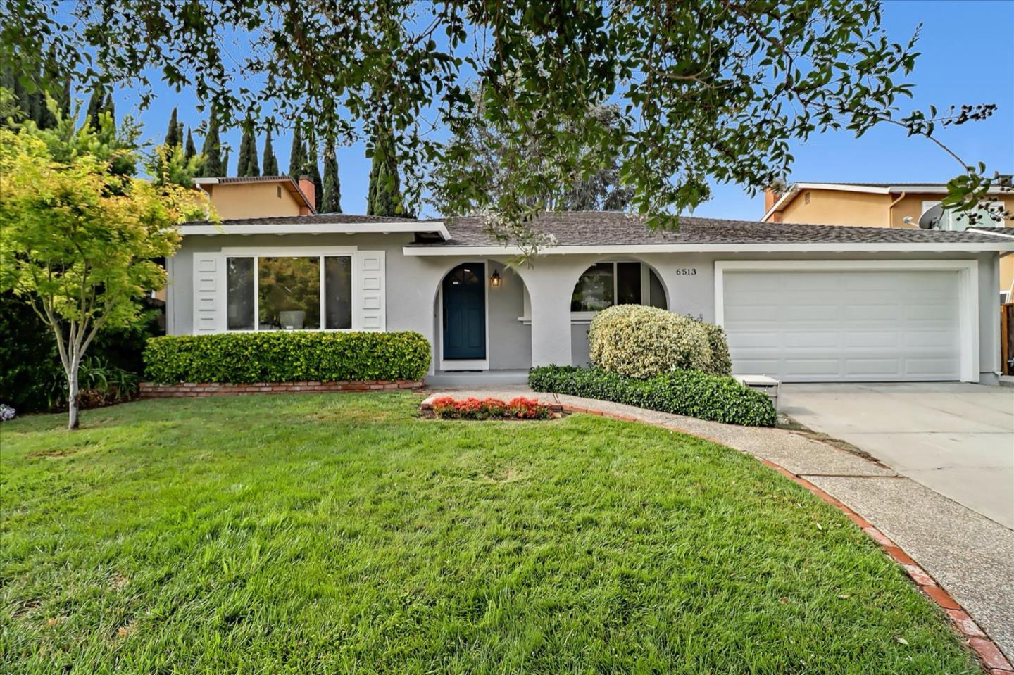 Remodeled and move-in ready! This highly desirable single-level home with 4 bedrooms & 2 bathrooms will meet the needs of everyone. The true heart of this house lives in the fully updated kitchen! All new white cabinets, quartz countertops, stainless steel appliances, farmer's sink, modern island for cooking & entertainment, plus an open concept floor plan that combines the kitchen with the family room. Large windows facing the garden and impressive skylights bring lots of natural light inside. Formal dining room and spacious living room. Updates include new flooring, baseboards & crown molding, recessed lighting, custom-designed bathrooms, new closet doors, new garage door, and fresh interior & exterior paint! Beautiful patio and landscaped backyard for your enjoyment. Close to the foothills, hiking trails, shopping & dining, hospital, library, light rail, and highly rated schools! Plus, membership at Rancho Santa Teresa Swim & Racquet Club will bring lots of joy to your family.