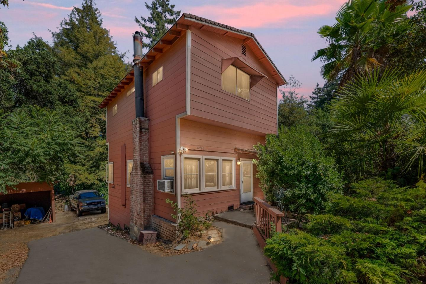 Welcome to 21446 Broadway Ave, a peaceful home nestled amidst the beautiful redwoods, situated on a big lot in the highly desirable Redwood Estates neighborhood of Los Gatos.This home presents a great opportunity to remodel to best fit your own specific tastes and preferences. Enjoy the private deck and large backyard which is great for entertaining family and friends. The kitchen flows wonderfully into the family room with vaulted ceilings and features 2 bedrooms & 1 bathroom on both the first & second floor. There is also a basement that has plenty of room for a workshop and additional storage.Just a short walk to the store, community center with pool & playground, Nonno's Italian Cafe & the local Post Office. Conveniently located just a quick 10-minute drive to popular downtown Los Gatos known for its family friendly atmosphere,shopping, boutiqueshops,restaurants, and top rated schools. Don't miss out on this great opportunity!
