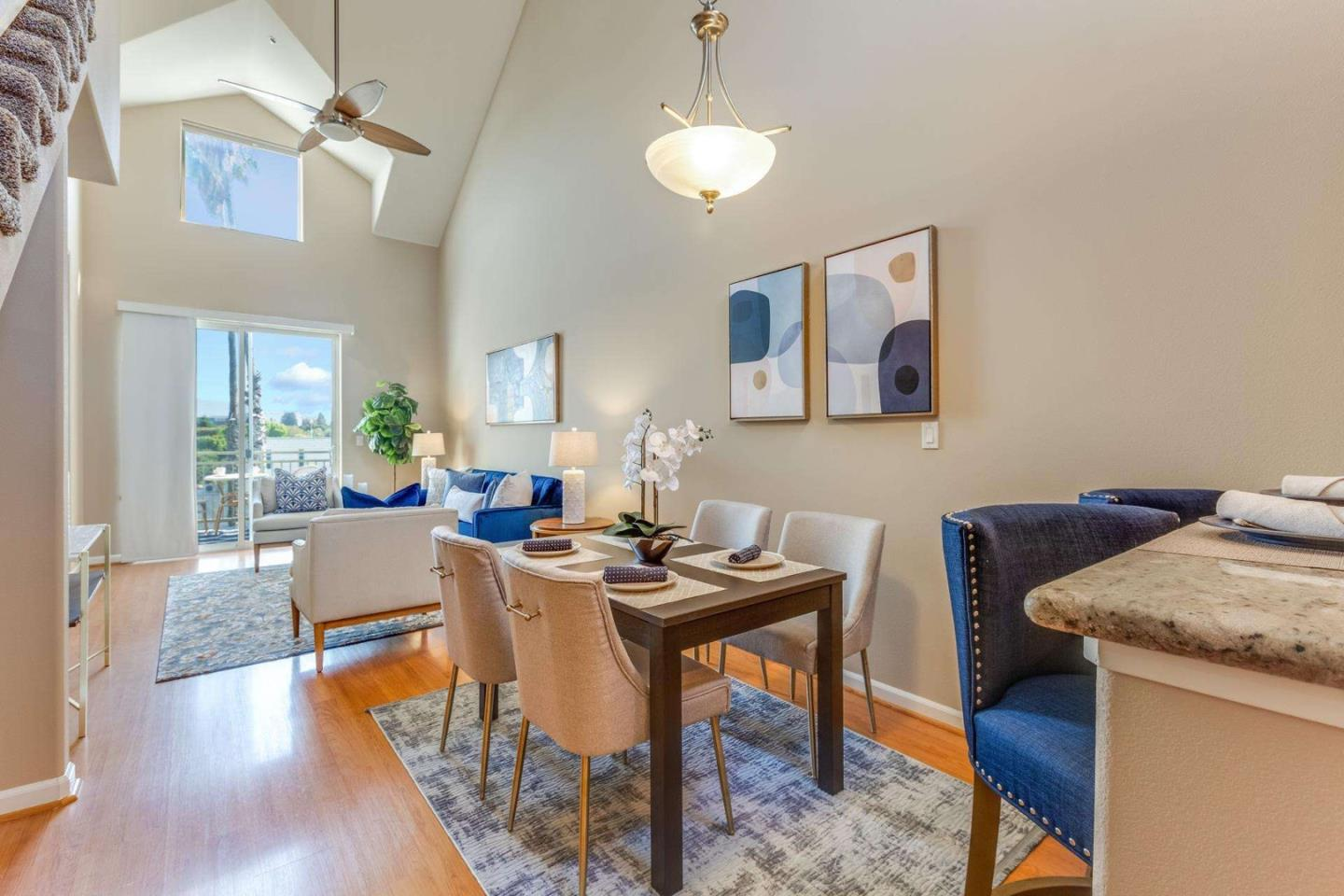 One-of-a-kind unit on University! The conveniently located unit features 2 bedrooms, 2 bathrooms, a loft and an open floor plan complete with high ceilings and gleaming hardwood floors. An expansive kitchen including copious amounts of countertop space to create and cabinet storage galore. Relax with ease at the end of the day on your private balcony overlooking the neighborhood. Personal washer and dryer closet in-unit and underground garage parking...the list goes on! Perfectly placed just moments away from Hwy 101, the Dumbarton Bridge, Amazon, Ravenswood Shopping Center, Facebook HQ, IKEA and Cal Train. Don't miss this one!