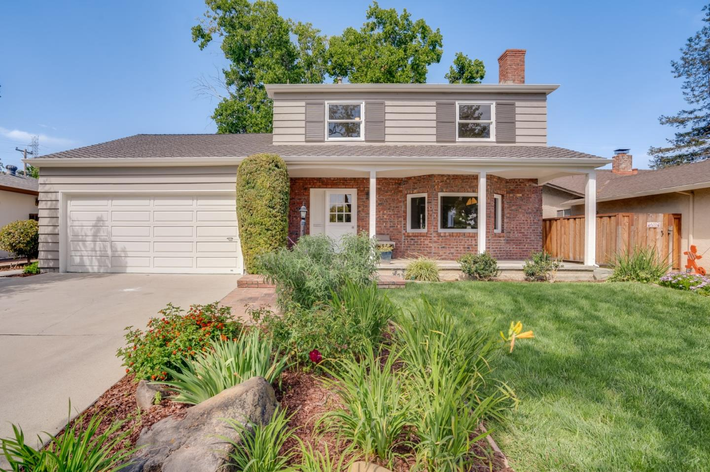 This lovely Los Gatos home is located on a quiet street in the sought after Carlton neighborhood, within walking distance to award-winning schools, shopping and parks. The bright and airy floor plan is fantastic. See yourself cooking the perfect meal in the updated gourmet kitchen with a gas cooktop island, soapstone counters, and stainless appliances. After you enjoy your meal in the large dining room, you have your choice to relax in the formal living room with its built-in bookcase and fireplace, or choose the spacious family room with a sliding door inviting you out to the backyard. Additionally there is an indoor laundry and half bath downstairs. Upstairs you will find 3 huge bedrooms, and 2 updated bathrooms, with the largest room being en-suite. Step outside into the secluded backyard where you can throw the perfect BBQ on the deck, under the pergola, or just relax under all the mature trees. Close to Carlton Elem., Union Middle and Leigh HS. This turn-key home is a must see!