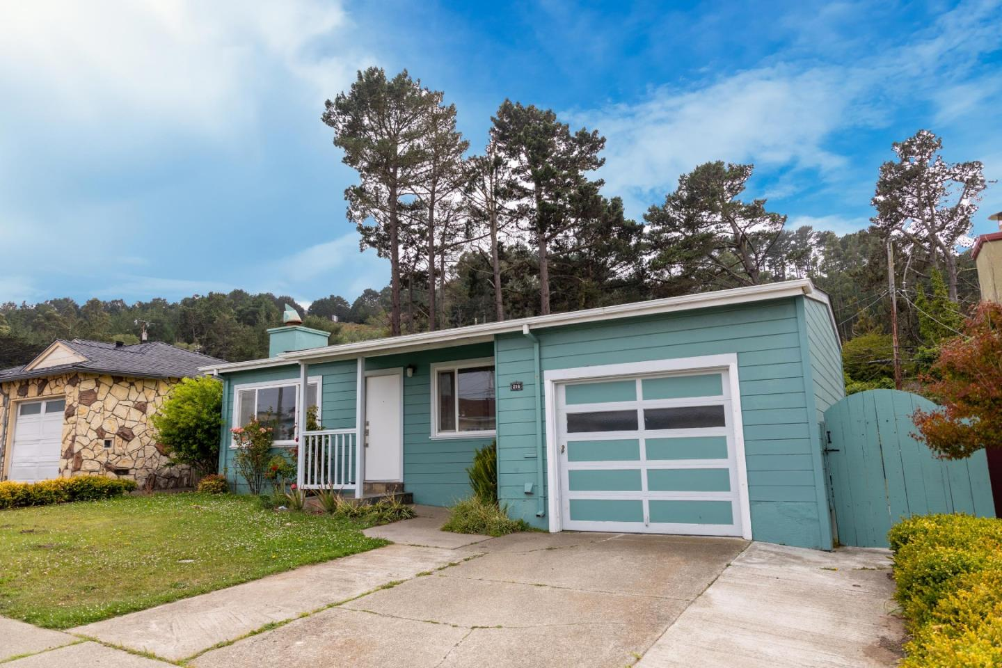 Spacious and bright 3bd/1ba home located in a quiet and highly desirable neighborhood in South San Francisco, conveniently located nearby I-280/101 for an easy commute to SF & Silicon Valley. The single-story home features an open format layout w/ large picture windows that let in an abundance of natural light. As you enter, find a large living room complete w/ a wood-burning fireplace that flows effortlessly into the dining space - creating the perfect place to host friends & family or for a cozy night in. The dining space opens into the updated kitchen that features a gas range stove, double door refrigerator, & plenty of cabinet space. The three bedrooms are of ample size w/ sizeable closets, large windows, & updated light fixtures. The bathroom features a shower over tub, vanity mirror, & lighting. A large backyard w/ a bonus shed for storage included. Attached one car garage w/ a washer and dryer. Fresh interior paint throughout. Dont miss out on this one-of-a-kind gem!