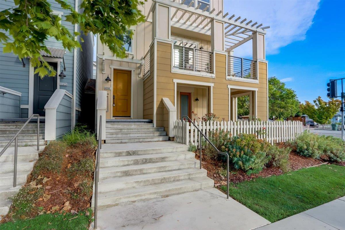 MOVE IN READY! This meticulously maintained home is ready to be loved by the new owner! This home is conveniently nestled in a desirable IRVINGTON neighborhood. Home sits on a premium corner lot!  2 car attached garage. Small patio in front. Enjoy the children's playground, Community swimming pool, Landscaped common areas, BBQ grills & a dog park. This street facing beauty offers 4 beds, 3.5 baths,1599 living sqft. Tons of natural light w/ open concept floorplan & chef inspired kitchen, with upgraded modern cabinets, quartz countertops, pantry, stainless steel appliances & pendant lights. Has a Spacious great room to relax & host gatherings. The primary suite is fully upgraded with a spa-like master bath with a lovely tub & an oversized walk-in closet! So many upgrades: Wood floors, recessed lights, upgraded carpet, & ROS system enhances the beauty of this home even more. Walking distance to TOP RATED schools, food, shops, fwys & BART. This is a stunning home you will not want to miss!