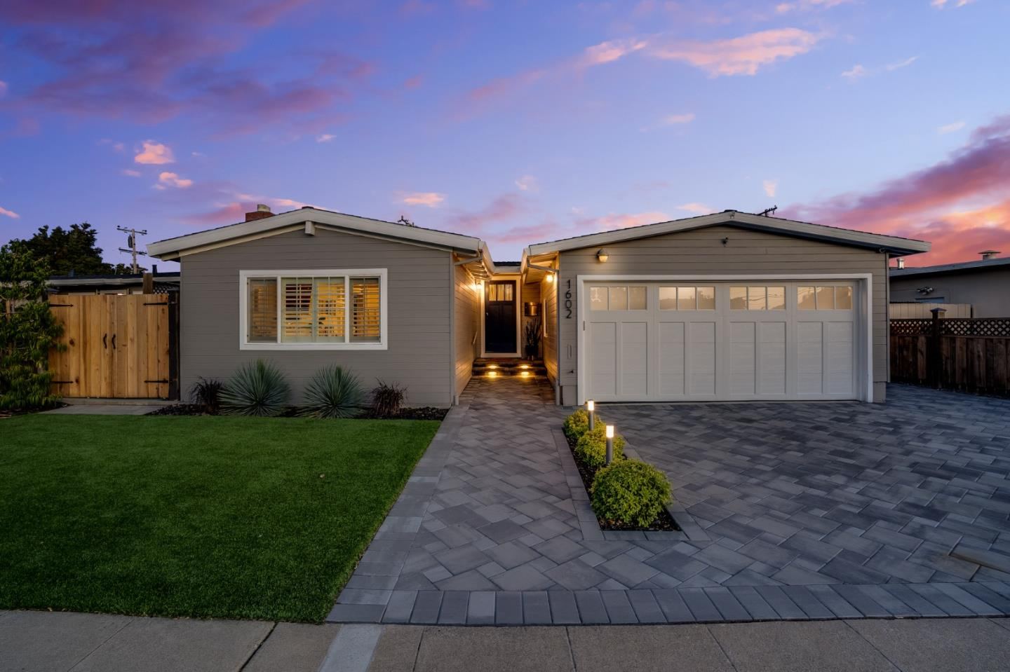 Curb appeal pops on this chic remodeled home that is immaculate inside and out.  The spacious & inviting great room welcomes you into the spacious living area w/vaulted ceiling & gas burning fireplace,  DR w/sliding glass doors leading to the deck for barbecuing.  Gleaming engineered hardwood floors in the great room/DR.  The sunny updated kit features an eat in area, ss appliances, quartz counters w/Moroccan clay tile backsplash, 5 burner gas range, mini fridge w/maple counter bar top, 2 skylights, & tile flr.  Lush back yd great for entertaining w/large patio w/awning, LED lighting, Rachio smart sprinkler, lemon, clementine orange, & Podacarpus trees & Lg Tuff Shed for storage.  Amenities include dbl pane windows, LED lights in home, yard & garage, Therma-Tru front dr w/Yale & Nest smart lock, Nest doorbell, front yd in-ground gutter drains.  Close to schools, downtown San Mateo, shopping & restaurants.  Just call the movers!