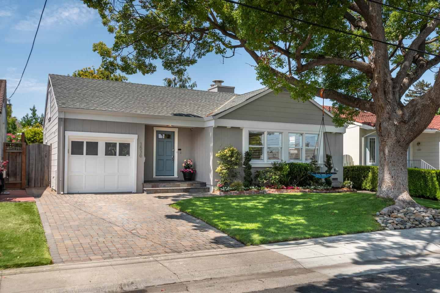 Open SA and SU 2-4!  Don't miss this one!!  Adorable, bright, light, and superbly located,  this home has it all. Fresh paint inside and out, gorgeous wood floors, and a recently updated kitchen with designer style. Formal living and dining rooms are perfect for entertaining with friends and family; the kitchen is a chefs dream with stainless appliances, newer shaker style cabinetry, center island, and separate eat-in area.  An upstairs bonus room is ideal for play or guests. A detached studio is perfect for todays work-from-home needs. New lighting is found throughout, including in both bedrooms, one of which has access to a large,updated bathroom and there is a generous half-bath with integrated laundry. Outdoors has plenty of room for play and entertaining with a paver stone patio and large grassy area. Access to acclaimed Baywood Area Schools.  Close proximity to commute routes; Silicon Valley, SFO, San Francisco, dining, shopping, entertaining.